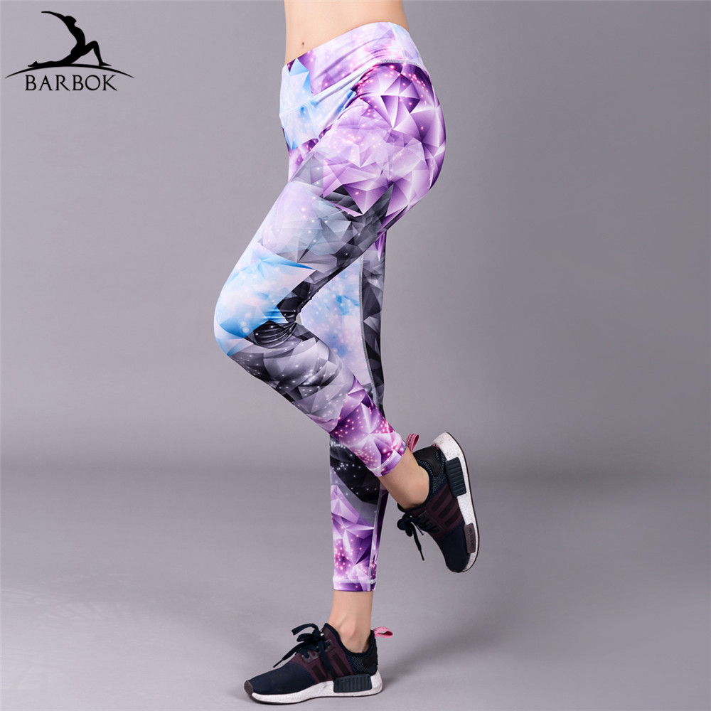 BARBOK women gym girl training yoga pants leggins sport women fitness sport tights soft flexible running exercise yoga leggings