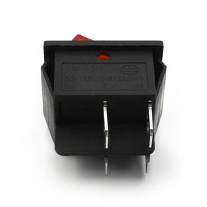 Image 2 - 5  Pcs Red Lamp 4 Pin ON/OFF 2 Position DPST Rocker Switch 16A/250V KCD4 201
