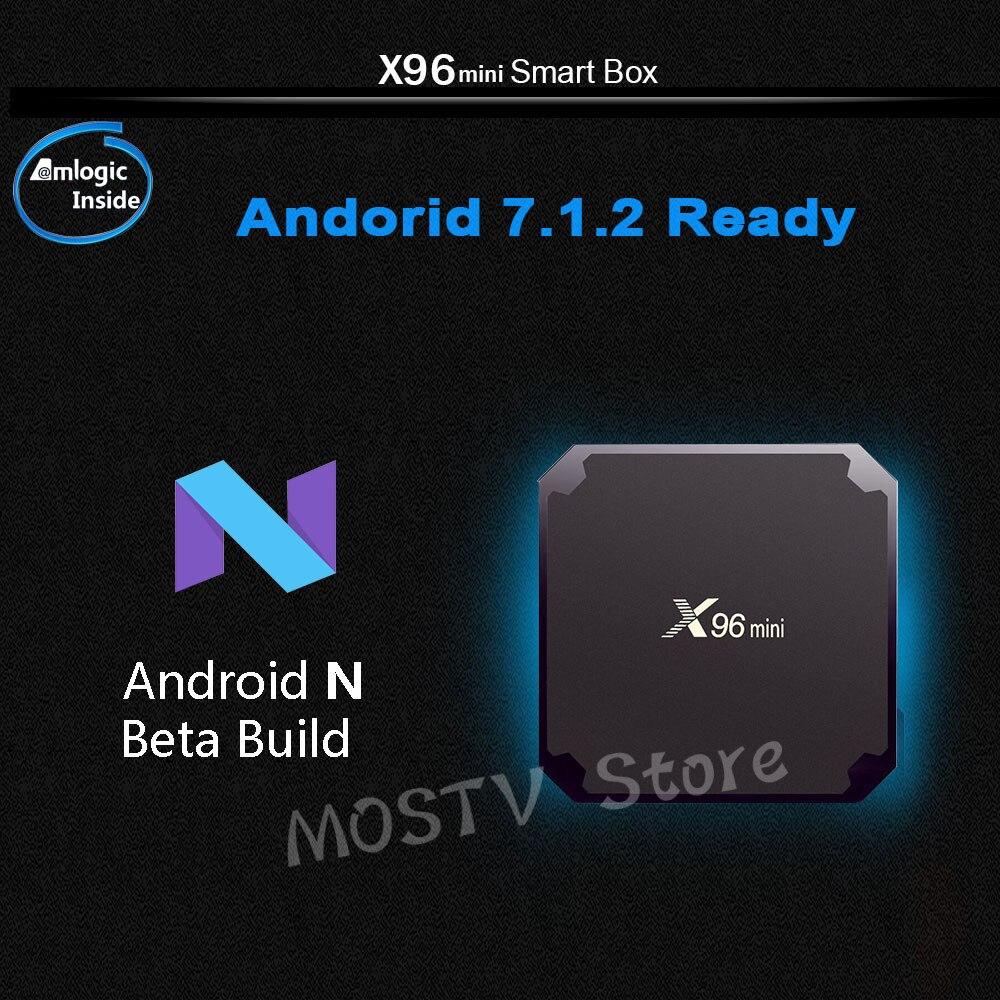 X96 mini Android 7.1 X96mini Smart TV BOX S905W Quad Core support 2.4G sans fil WIFI décodeur câble Streaming lecteur multimédia