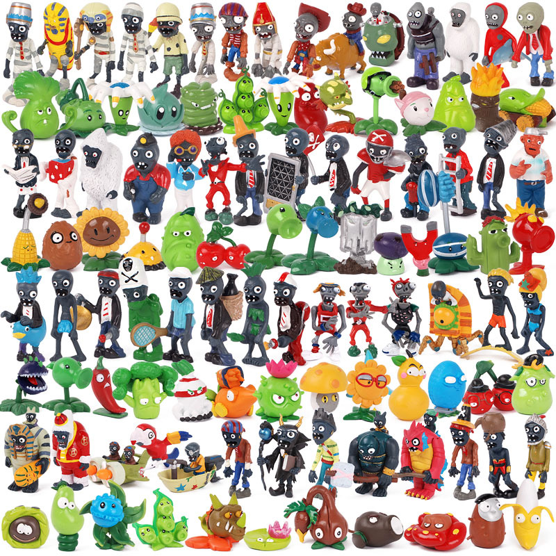 88 Styles Plants Vs Zombies Action Figures Toys PVZ Plant + Zombies Figures PVC Doll Model for Children Brinquedos Juguetes Gift 1set special crazy hair troll squinkies doos capsule toy vending machine figures mix styles action figures cute pvc toys model