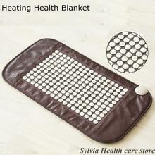 2016 heating white jade yoga pad Natural Jade heat mat hemorrhoids prostatitis health care jade Infrared heat mat free shipping