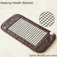 2017 heating white jade yoga pad Natural Jade heat mat hemorrhoids prostatitis health care jade Infrared heat mat free shipping