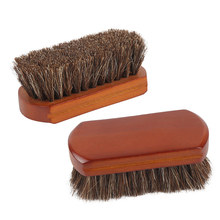Horse Hair Car Cleaning Care Brushes Redwood Handle Dust Remove Tools car detailing tools Soft hair shoe brush Car Accessories