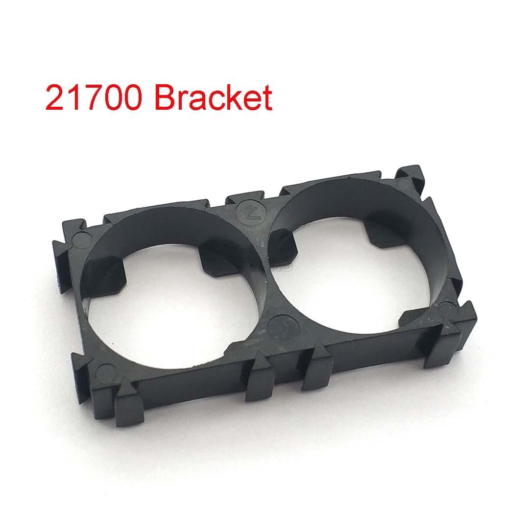 10 Pcs 21700 2x Battery Holder Bracket Cell Safety Anti Vibration Plastic Brackets For 21700 Batteries