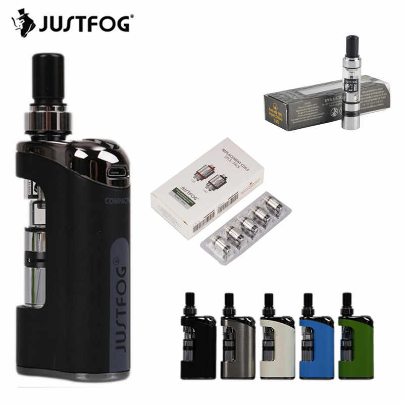 JUSTFOG Compact 14 Vape Starter Kit With 1.8ml Q14 Atomizer Tank 1500mAh Battery 1.2ohm 1.6ohm Coil Electronic Cigarette Pen Kit