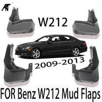 4PCS/SET Mud Flaps For Benz W212 Front Rear Fender Flare Splash Guards For Mercedes E300 E350 E550 E500 E280 E200 2008-2013