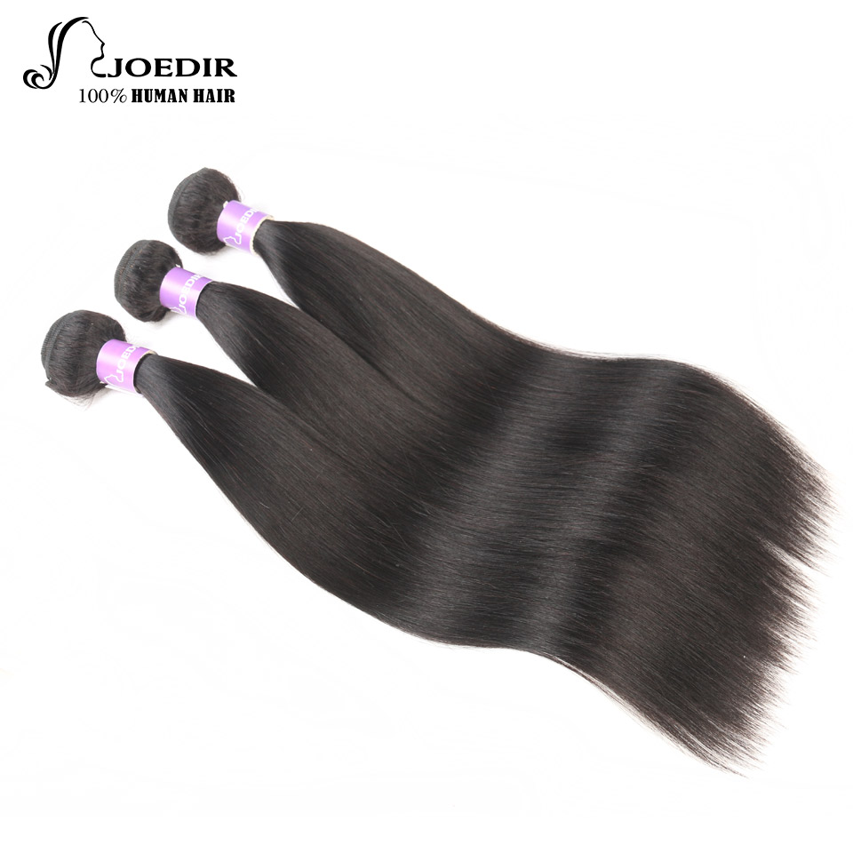 Joedir Hair Malaysian Human Hair 3 Bundles Rak Pre-Colored Hair - Skönhet och hälsa