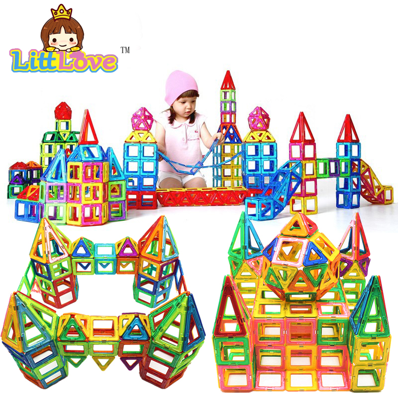 164Pcs Mini Magnetic Designer Construction Toy DIY Educational Toys For Kids Creative Bricks Enlighten Magnetic Building Blocks