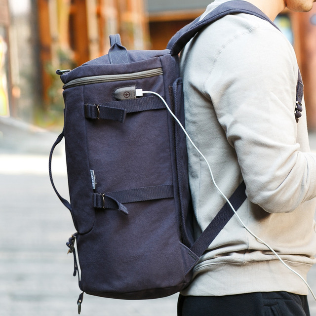 Muzee High Capacity Travel Bag New Arrival Cylinder package Multifunction Rusksack Male Fashion Backpack