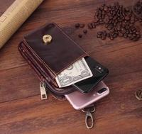 Belt Clip Man Genuine Cow Leather Mobile Phone Case Pouch For Nokia 8 Microsoft Lumia 640