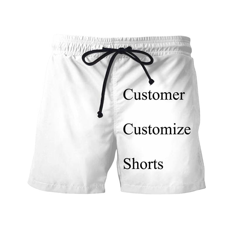 YOJULY Customer Customize 3d Printed Shorts Unisex DIY Your Fashion Casual Short Pants Swimming Shorts Size S-7XL Drop Shipping
