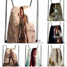 Custom Tomb Raider Drawstring Backpack Bag for Man Woman Cute Daypack Kids Satchel (Black Back) 31x40cm#180531-01-33