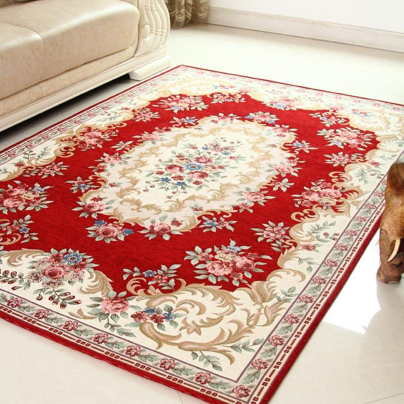 Top Grade Jacquard Living Room Parlor Carpet Corridor Large Size Bath Mats  Kitchen Adult Rugs Bedroom Carpet Home Hotel Decorate