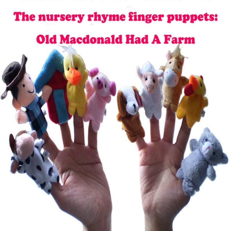 Детские игрушки 10 шт./лот скотный двор куклы-наперстки-мир классическая история песни O ...