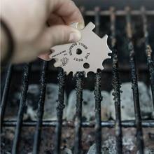 Чистящее лезвие для барбекю инструмент для очистки портативный скребок для решетки для гриля из нержавеющей стали с лучшим скребок для решетки для гриля буквы принадлежности для барбекю