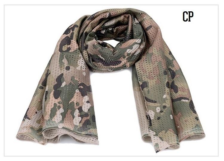 Универсальный арабский армейский Тактический Камуфляжный шарф для мужчин военный джунгли бой ветрозащитная сетка шаль вуаль унисекс Камуфляж шарфы для пейнтбола - Цвет: CP