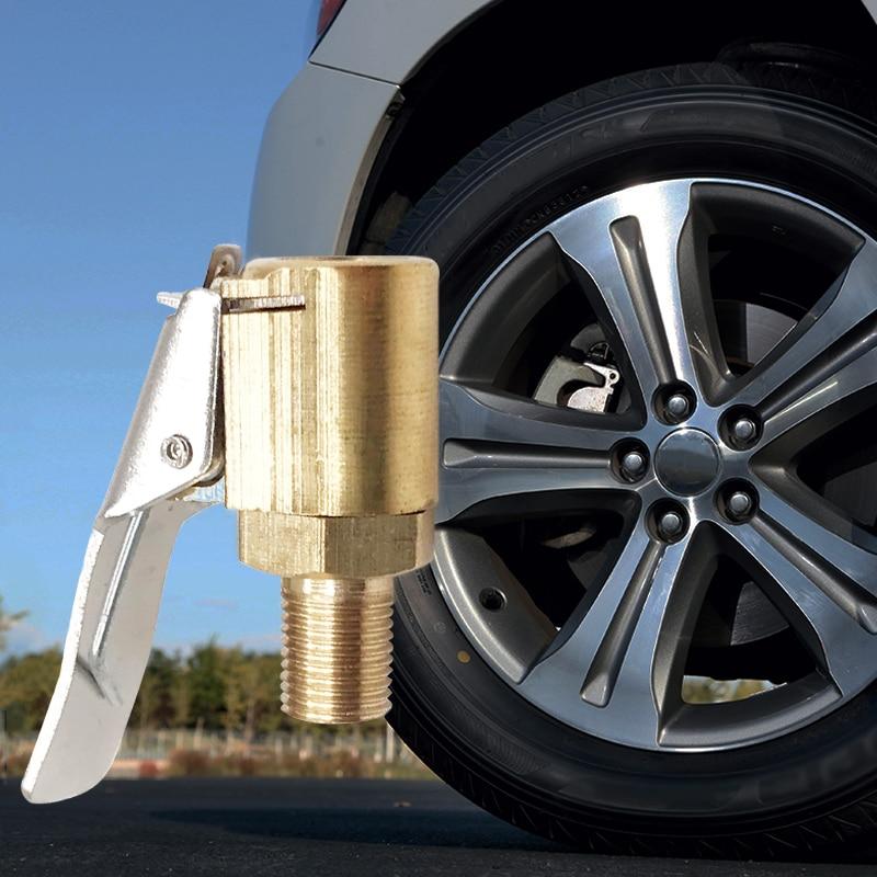 1 PCS Car Automatic Pass 8 Mm Chuck Inflator Air Pump Tire Tire Valve Wheel Connector Clamp Car Adapter