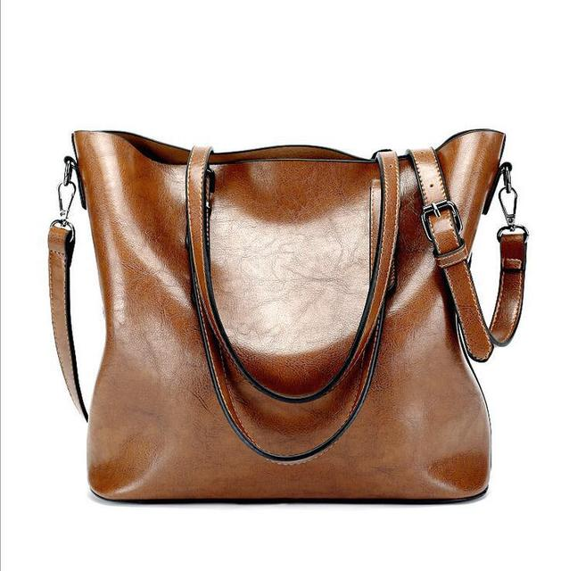 New 2018 ladies  fashion leather big bag 329fc40f78618
