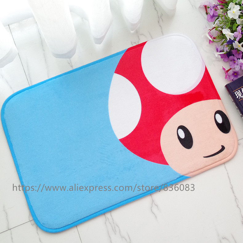 Front door mat bathroom mat/soft warm strong water absorption The mushroom head carpet with anti-slip back