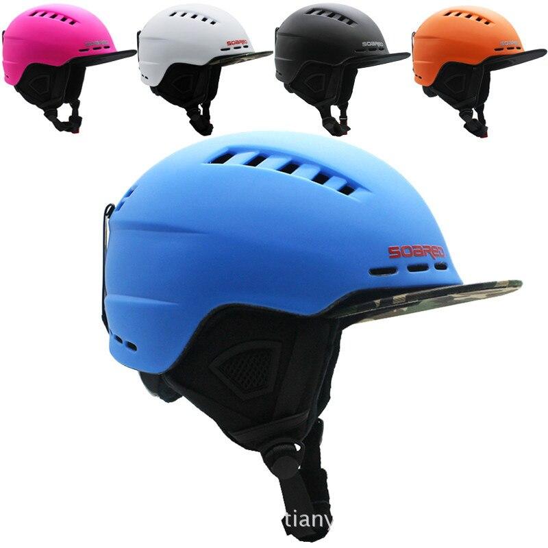 Sports de plein air casque de Ski hommes femmes chaud protection sport patinage planche à roulettes Ski intégralement moulé Snowboard casque
