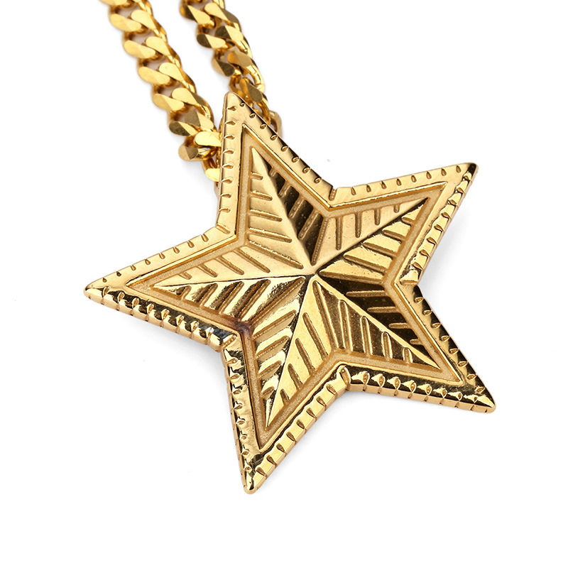 Nyuk new gold silver five pointed star pendant necklace judaism nyuk new gold silver five pointed star pendant necklace judaism jewish chain men women rock bling star stainless steel necklaces in pendant necklaces from mozeypictures Image collections