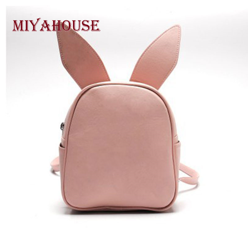 Cute Backpack Women Small Zipper Rucksack With Three Pairs Of Ears Can Replace The Mini Backpack Loving Bat Wing Shoulder Bags