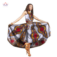 Traditional African Women Clothing Print Wax Custom Ankle Length Dresses for Women Africa Women Clothing Dashiki Dresses WY1824