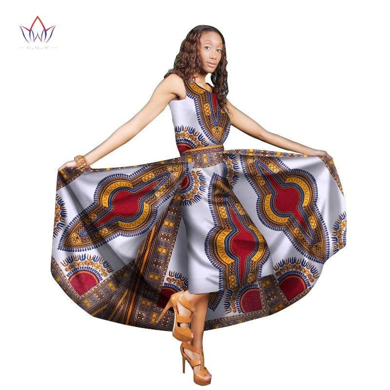 Traditionelle Afrikanische Frauen Kleidung Print Wachs Benutzerdefinierte Ankle Länge Kleider für Frauen Afrika Frauen Kleidung Dashiki Kleider WY1824