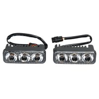 Universal 2pcs Waterproof Car High Power Aluminum LED Daytime Running Lights With Lens DC12v Xenon White