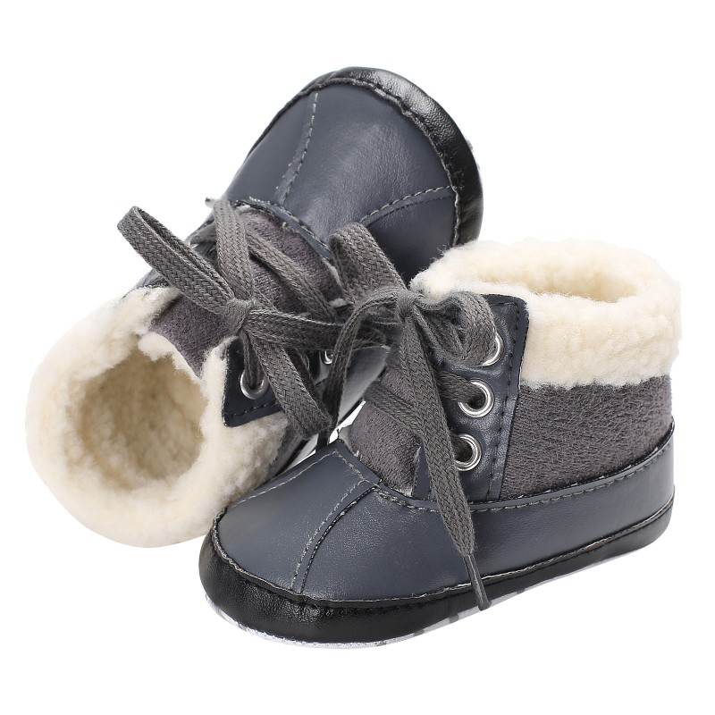 Зимние детские ботинки обувь дети новорожденных девочек и мальчиков первые ходоки супер Утепленная одежда искусственная кожа руно снежное...