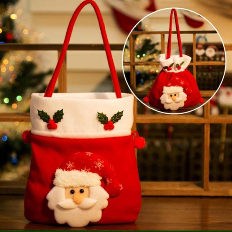 1 шт. милый мультфильм подарок мешок елку орнаментом украшения дома вечерние креативный подарок сумки для детей