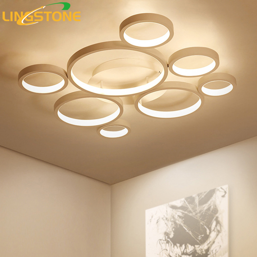 Modern Led Lamp Ceiling Lights Plafonnier Lamparas De Techo Lighting Ceiling Ring Light Living Room Bedroom Restaurant Bathroom ...