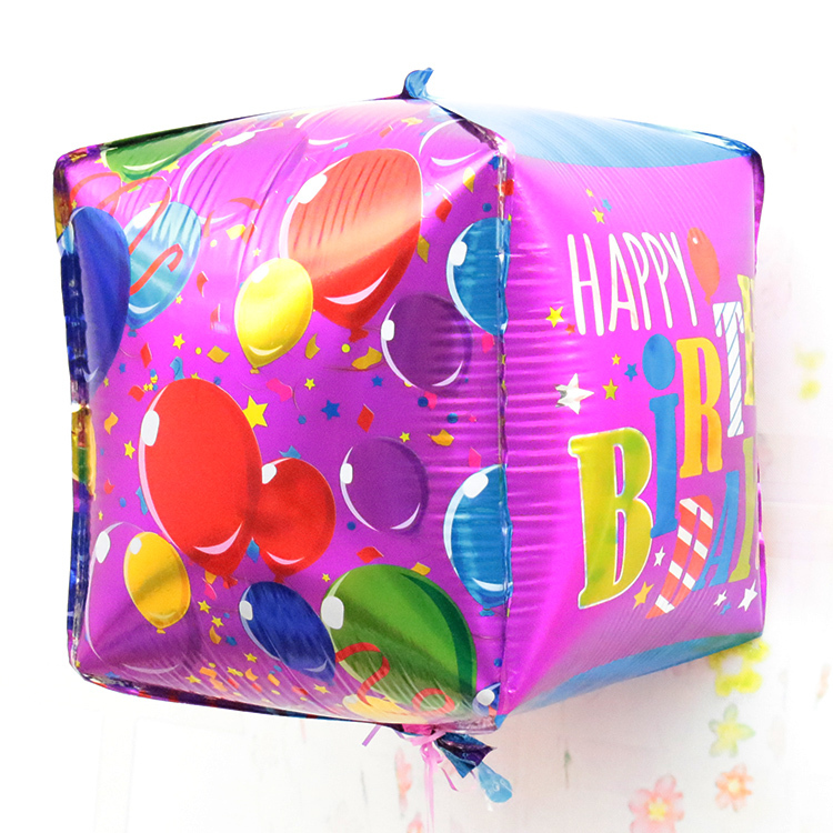 30 30cm square foil balloon for happy birthday decoration for Balloon decoration for kids