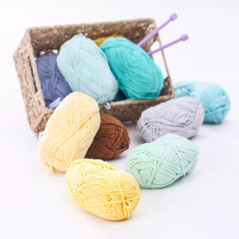 Yarn Baby Rag-Doll Hand-Knitting Smooth Bamboo Natural Cotton DIY