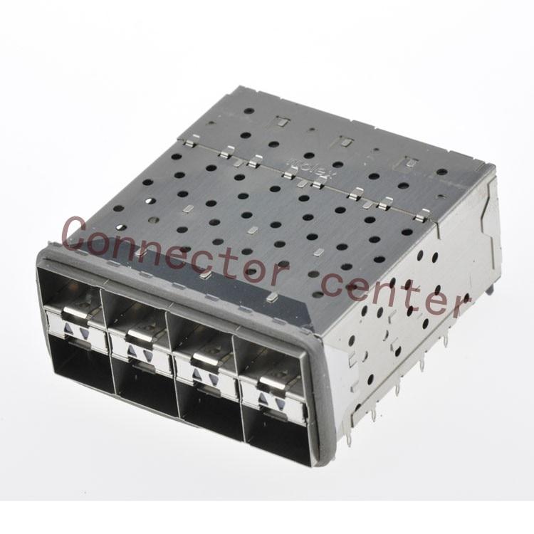 SFP SFP + Connector Voor Molex geplakt 2 by 4 Multi Port Connector met 2 Innerlijke Lightpipe Poorten 160 Circuits 760465002 - 6