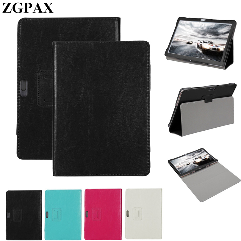 ZGPAX Universal Folio Stand Cover Case For For 10 10.1 Inch Tablet Protective