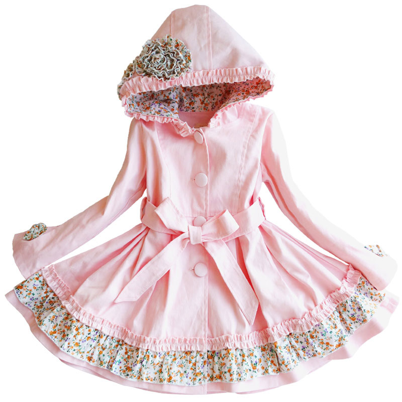 Qızlar üçün windbreaker bahar payız uşaqları uzun qollu palto 3-11 il Baby girl uzun hissə moda uşaq geyimləri