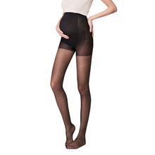 Одежда для беременных женщин летние Колготки Полная защита тонкие однотонные негабаритные низ брюки для беременных B
