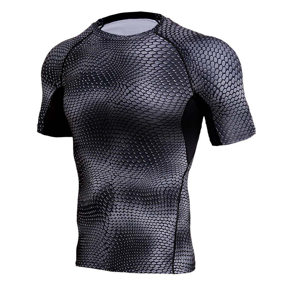 Mens Fitness T-shirt Men Quick Dry Clothing Gyms Tight T-shirt Homme Gyms T Shirt Men Fitness Cross fit Body Training Male Top