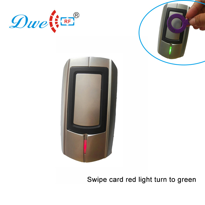 DWE CC RF Access Control Card Reader Rfid Reader Anti-vantal Zinc Alloy Wiegand 26/34 Bits Proximity Card Reader