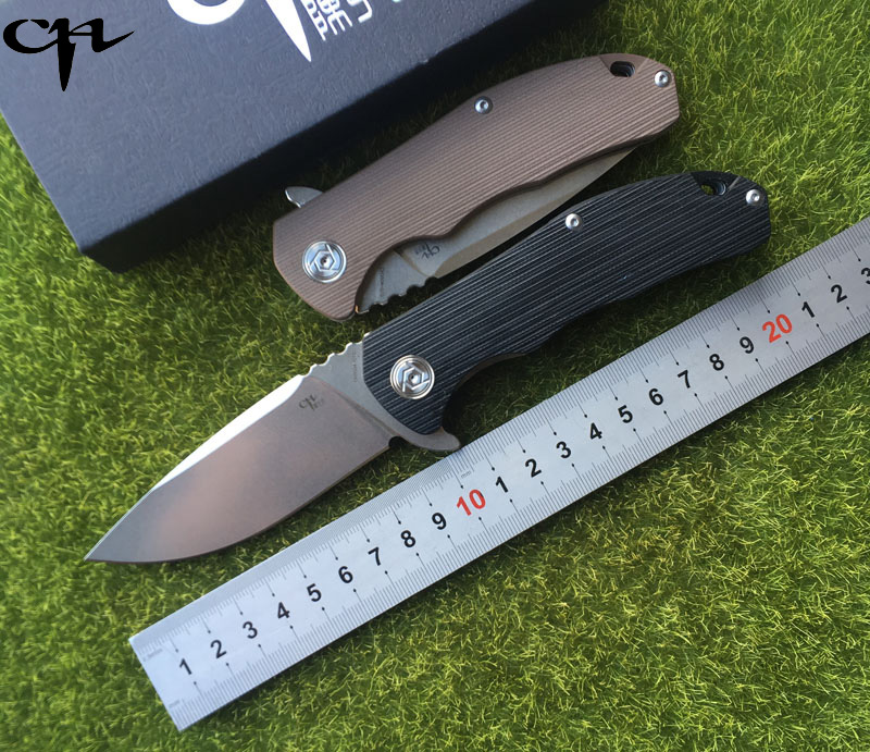 New CH3504-G10 Flipper folding knife D2 blade ball bearing G0 + steel handle camping hunting pocket knife EDC tools ch ch3504 g10flippe original folding knife d2 blade ball bearing g10 steel handle hunting knife outdoor survival knife edc