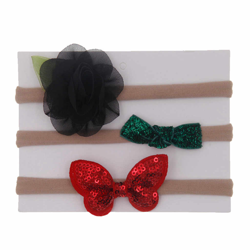 3 יח'\סט ילדים תינוקות בייבי בנות קשת קשר פרח גומייה לשיער שיער אביזרי סט סיכות נסיכת תינוק סרט serre tete bebe