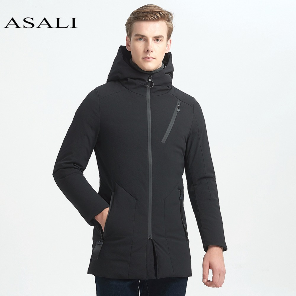 ASALI Long Warm Duck Jacket Men Thick Casual Men Coat Male Hooded Parka Winter Windproof Warm Snow White Duck Coat 2016 fashion winter hooded white duck down men jacket thick casual warm hoodies coat for man with camouflage pattern a4268