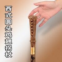 Asas de frango mogno cana rodada TZ vegetariano vara de madeira mão de madeira batalha vara vara de civilização civilização