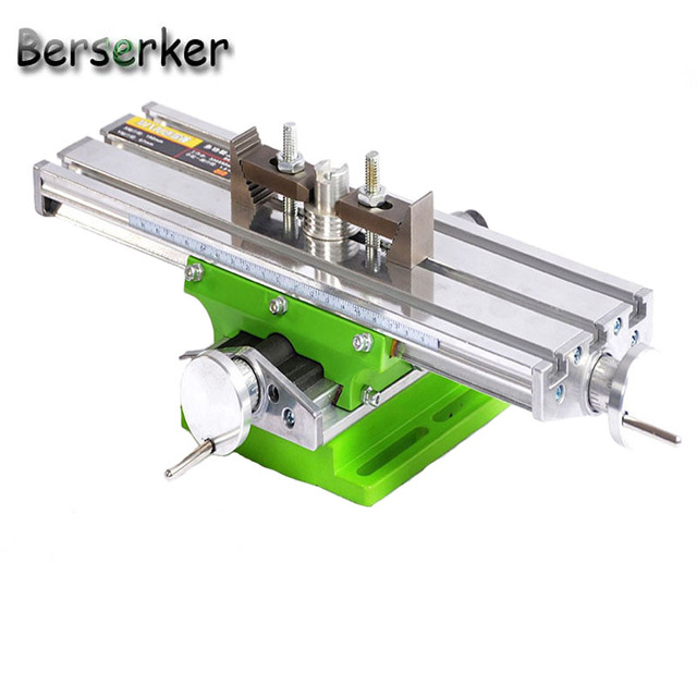 Berserker Working Cross Table Compound Bench Worktable X Y Axis Adjustment for Milling Machine Precision Tools BG-6330 ship usa