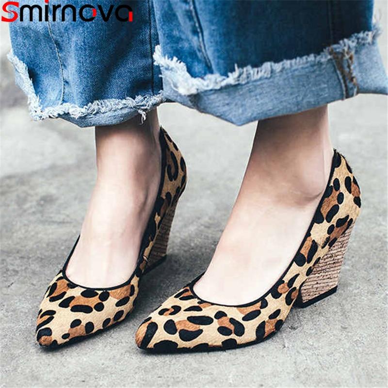 Smirnova Autumn Shoes Pumps Women Spring Pointed-Toe High-Heels Big-Size Fashion Woman