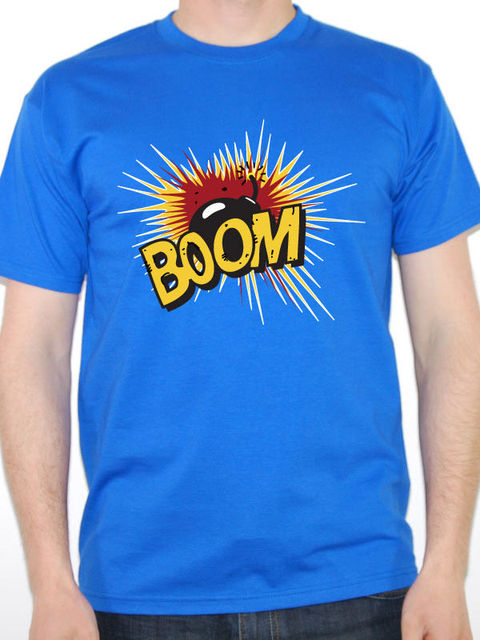 T Shirt Design Printer Short Boom Explosion Bomb Fire Fireworks Novelty Fun  Crew Neck Printed Tee a78745907