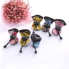 4-PCS/Set Pet Dog Shoes Waterproof, Breathable, Non-slip Rain Boots Socks Footwear For Small Puppies Paw Protector