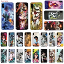 Lavaza Girl oil painting art Hard Phone Case for Apple iPhone 6 6s 7 8 Plus X 5 5S SE for iPhone XS Max XR Cover lavaza charli xcx hard phone case for apple iphone 6 6s 7 8 plus x 5 5s se for iphone xs max xr cover