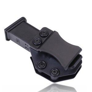 Image 1 - Innen Die Bund IWB Kydex Magazin Träger Mag Holster Benutzerdefinierte Für Glock 19 23 26 27 32 Verdeckte Trage 9mm Gun Pistole Pouch